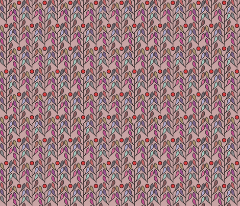 Leaf of Fiji (Sunset) fabric by david_kent_collections on Spoonflower - custom fabric