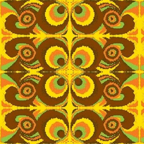 hippie-1 brown-orange-green