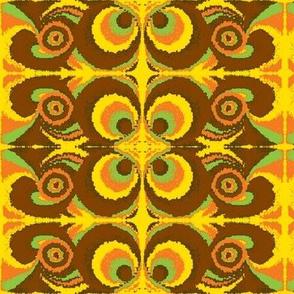 hippie-1 brown-orange-green