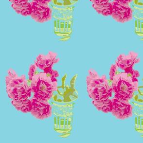 Moroccan tea glass tea roses turquoise