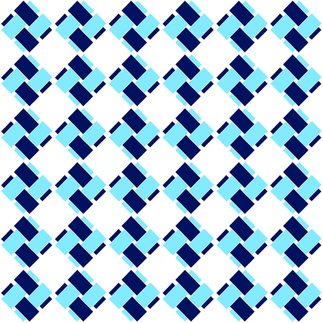 Blue and blue on white fabric by su_g on Spoonflower - custom fabric