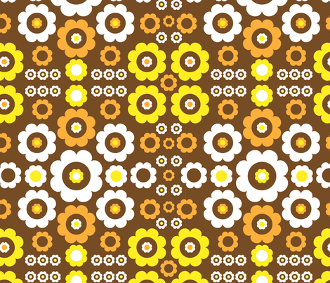 Flower Power fabric by mondaland on Spoonflower - custom fabric