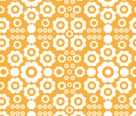 Flower Power (Orange 1) fabric by mondaland on Spoonflower - custom fabric