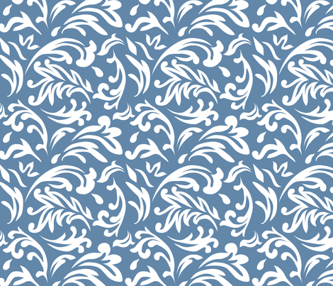 DeconstructedDamaskBrightBlue fabric by nikkibutlerdesign on Spoonflower - custom fabric