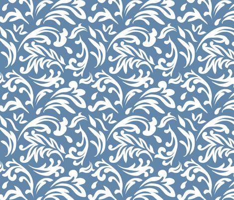DeconstructedDamaskBrightBlue fabric by nikkibutlerdesign on Spoonflower - custom fabric