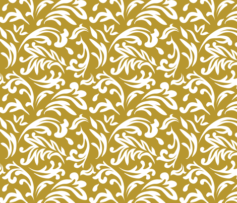 DeconstructedDamaskNeutralMustard fabric by nikkibutlerdesign on Spoonflower - custom fabric