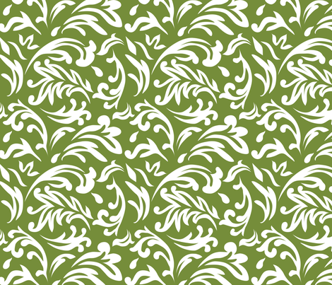 DeconstructedDamaskBrightGreen fabric by nikkibutlerdesign on Spoonflower - custom fabric