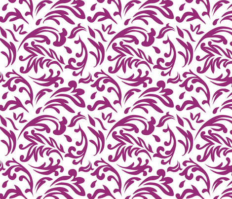 DeconstructedDamaskBrightPurpleREV fabric by nikkibutlerdesign on Spoonflower - custom fabric
