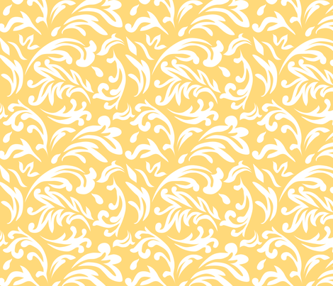 DeconstructedDamaskBrightYellow fabric by nikkibutlerdesign on Spoonflower - custom fabric