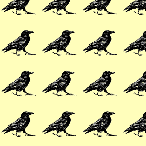 mr crow fabric by dreamskyart on Spoonflower - custom fabric