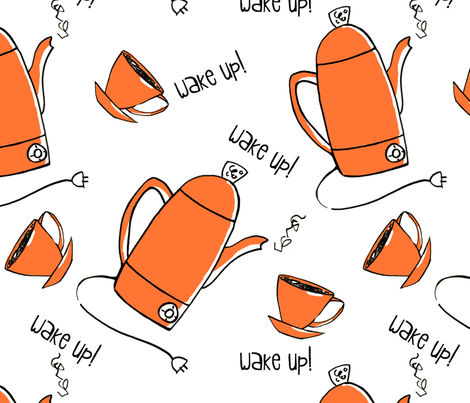 wakeup_wakeup fabric by monicaleestudios on Spoonflower - custom fabric