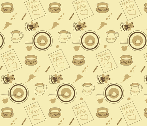 Coffee with Dad fabric by veritybrown on Spoonflower - custom fabric