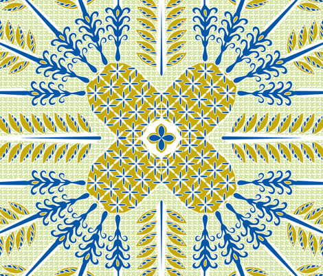 ©2011 Pineapple Aloha fabric by glimmericks on Spoonflower - custom fabric