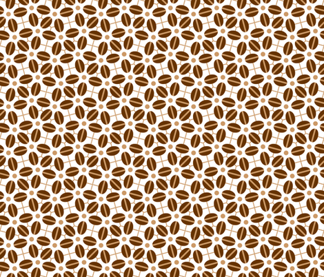 coffee bean flower (roasted) fabric by sef on Spoonflower - custom fabric