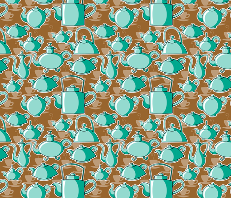 teapots fabric by tessiegirldesigns on Spoonflower - custom fabric
