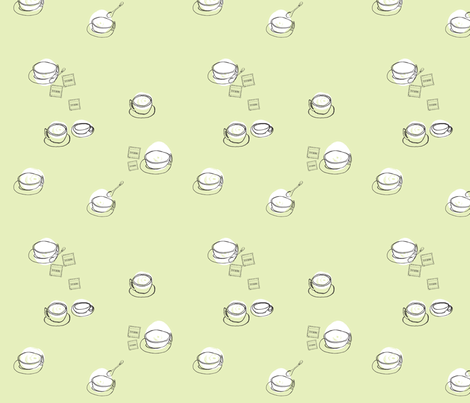 Caffe Lungo Macchiato fabric by karenvranken on Spoonflower - custom fabric