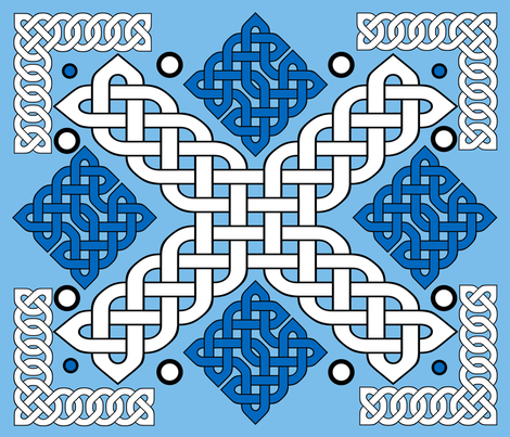 Celtic Quilt fabric by nezumiworld on Spoonflower - custom fabric