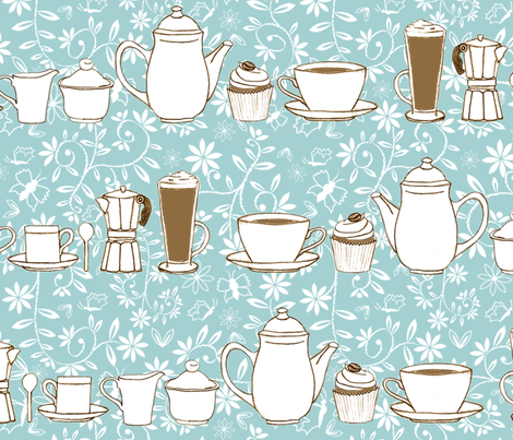 Coffee Culture fabric by jasmo on Spoonflower - custom fabric