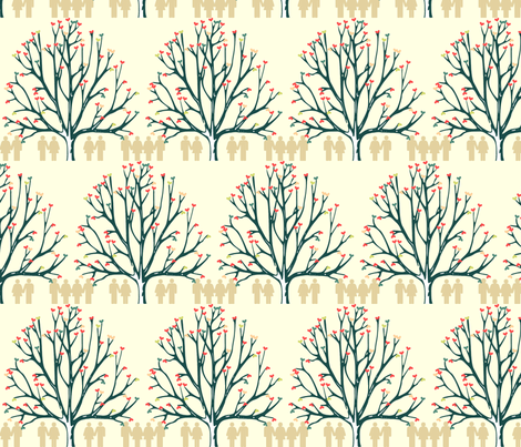 Love Tree fabric by colie*leigh*designs on Spoonflower - custom fabric