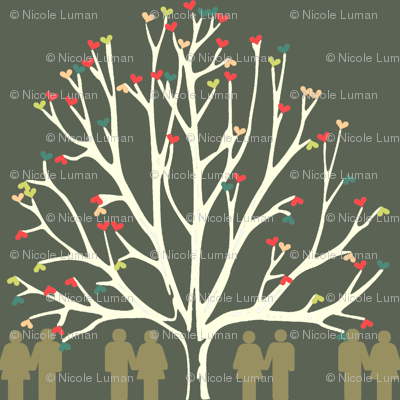 Love Tree Dark Ground