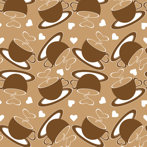 coffee_hearts fabric by worldwidedeb on Spoonflower - custom fabric