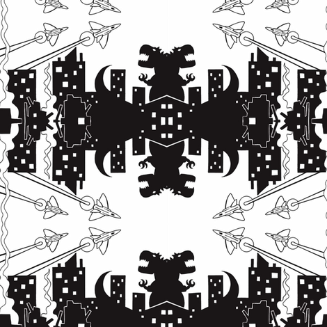 Dragon City fabric by mbsmith on Spoonflower - custom fabric