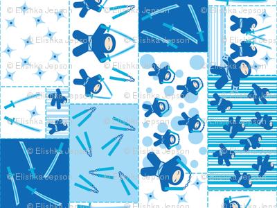 Blue Ninja Blocks (rotated)