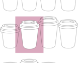 Takeaway cups pink