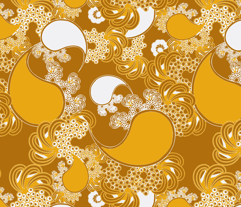 Golden Paisley fabric by joanmclemore on Spoonflower - custom fabric