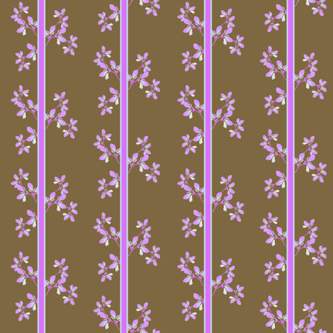 Blooms and Stripes fabric by joanmclemore on Spoonflower - custom fabric