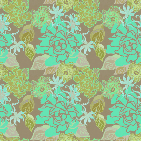 Jungle Song fabric by joanmclemore on Spoonflower - custom fabric