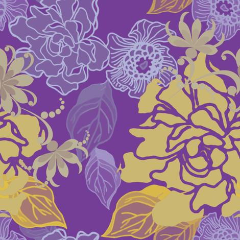 Jungle Hush fabric by joanmclemore on Spoonflower - custom fabric