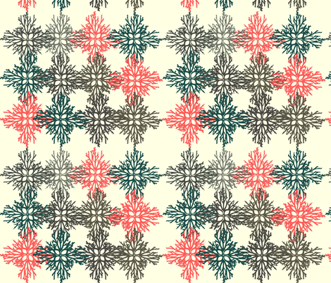 Root Snowflakes  fabric by colie*leigh*designs on Spoonflower - custom fabric