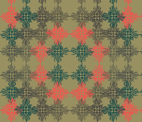 Root Snowflakes dark ground fabric by colie*leigh*designs on Spoonflower - custom fabric