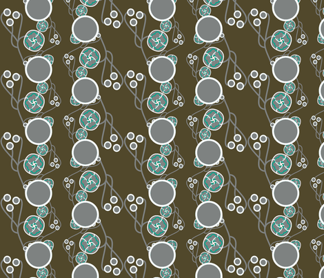Organic Dots Blue and Taupe fabric by joanmclemore on Spoonflower - custom fabric