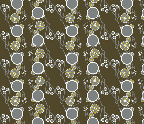 Organic Dots Gold on Taupe Charcoal fabric by joanmclemore on Spoonflower - custom fabric