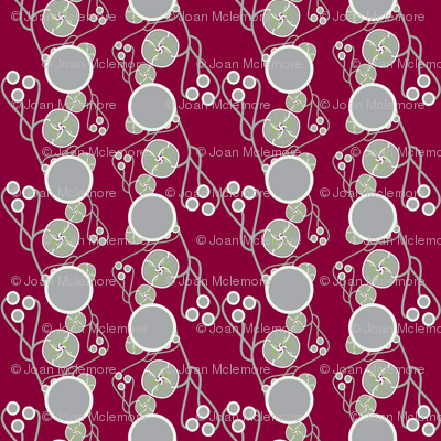 Organic Dots Red and Gray