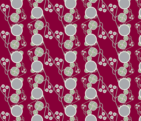 Organic Dots Red and Gray fabric by joanmclemore on Spoonflower - custom fabric