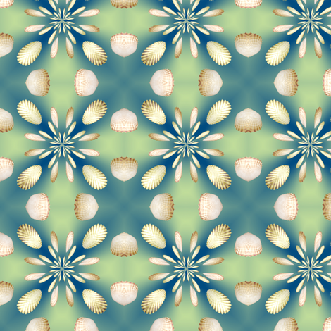 3d Floral Scallops Design, S fabric by animotaxis on Spoonflower - custom fabric
