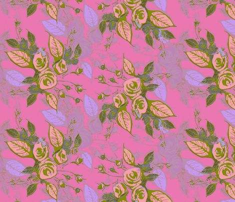 Roses soft magenta fabric by joanmclemore on Spoonflower - custom fabric