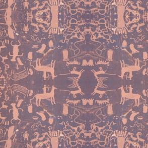 petroglyphs - pink & grey
