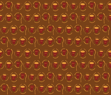 Coffee fabric by katsanders on Spoonflower - custom fabric