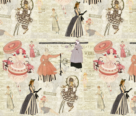 Fashion Girls fabric by peagreengirl on Spoonflower - custom fabric