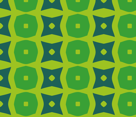 Donuts B (Green) fabric by nekineko on Spoonflower - custom fabric