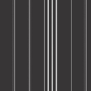 Branching out - Coordinating Stripes in Black
