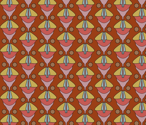 Chanterellette (Red Basin) fabric by david_kent_collections on Spoonflower - custom fabric