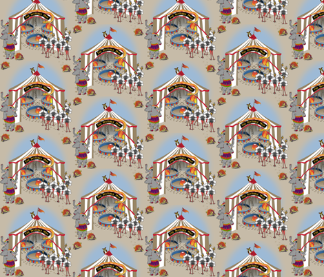 ©2011 Three Rings Under The Big Top - The Invisible Man fabric by glimmericks on Spoonflower - custom fabric