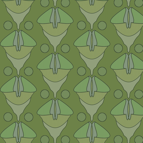 Chanterellette (Moss) fabric by david_kent_collections on Spoonflower - custom fabric