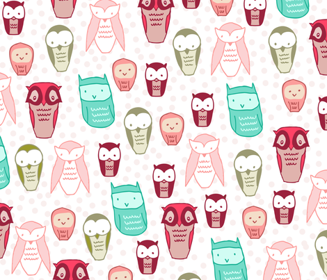 owls fabric by babysisterrae on Spoonflower - custom fabric