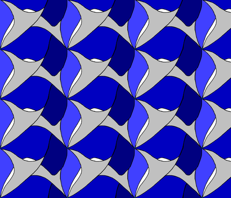 sharks_tooth_blue fabric by wiccked on Spoonflower - custom fabric